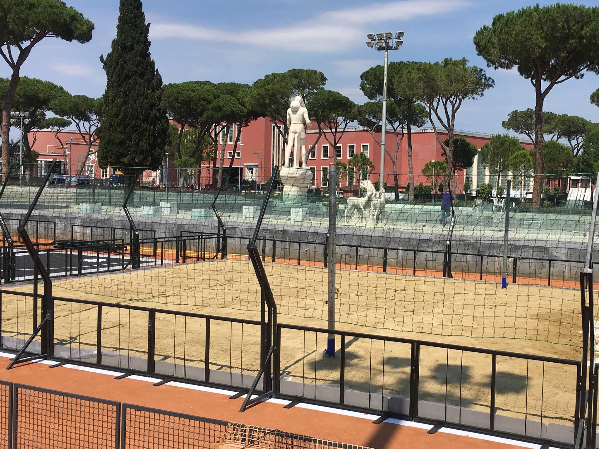 Transenne di contenimento Beach volley -Noleggiocampi.it